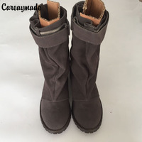 2016 New Autumn And Winter Shoes Leather Shoes Boots With Thick Frosted Leather Boots In Europe