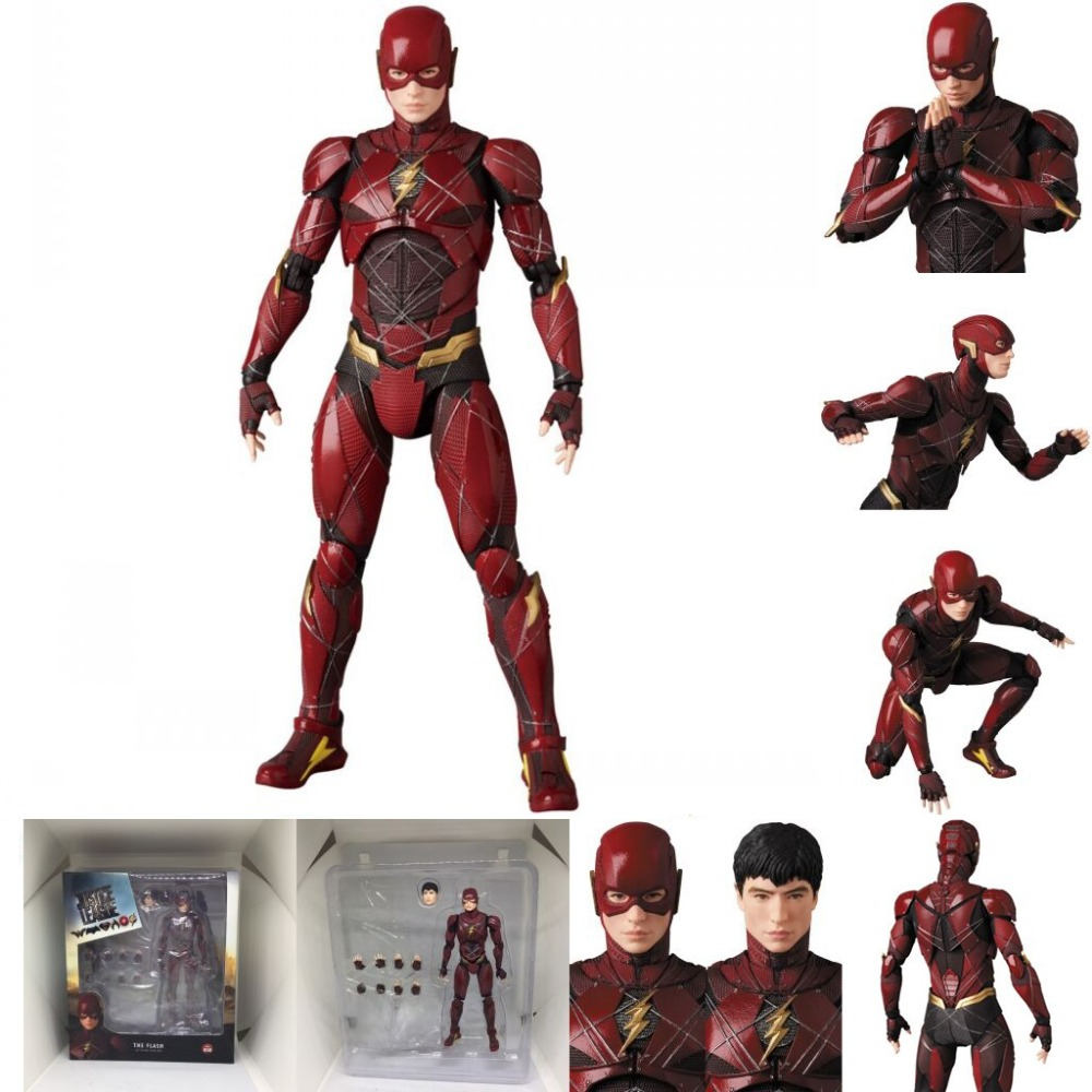 Justice League Mafex Batman Maf 056 Flash 058 Wonder Woman 048 Superman 057 Spiderman 047 Action Figure Toy Doll (1)