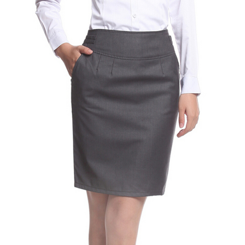 01cb441e5a New Brand Spring Summer Women Career Short Formal Skirts Ladies High Waist  Knee-Length Pencil Skirt Plus Size Skirt Skirts Women