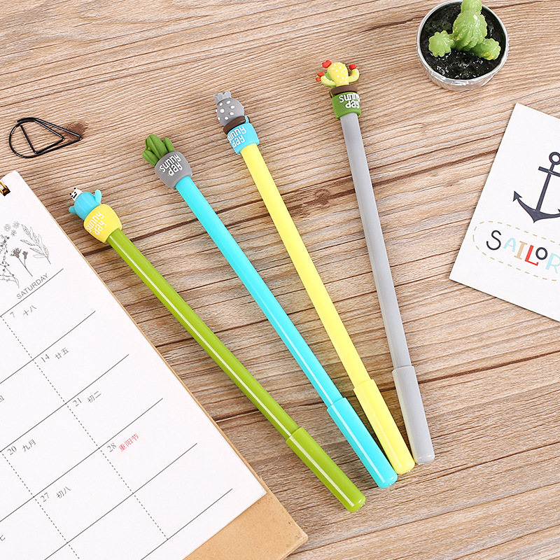 1 Pcs Creative Strong Cactus Plant 0.5mm Gel Pen Ink Marker Pen School Office Supply Escolar Papelaria Supplies Stationery