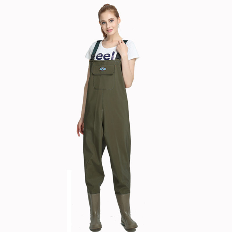 0.9mm Unisex Multi-Used Siamese Fishing Waders PVC Breathable Chest Height Waterproof Overalls Dichotomanthes End Fishing Waders thicker waterproof fishing boots pants breathable chest waders wading farming overalls cleaning siamese bust clothes