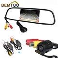 """Bemtoo sistema de visão traseira do carro sem fio backup câmera de visão noturna + 4.3 """"cor TFT LCD Carro Espelho Retrovisor Monitor, Frete Grátis"""