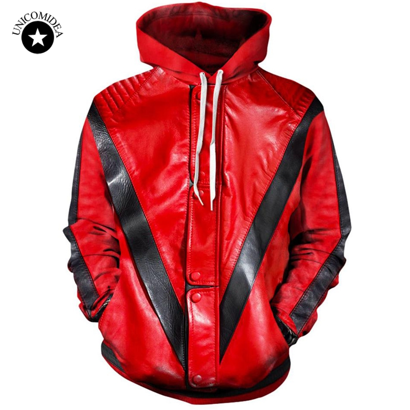 3d Hoodies Sweatshirt Tracksuit Jacket Mens Clothing Thriller Streetwear-Tops Printing title=