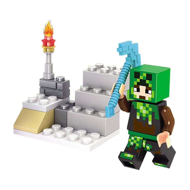 Legoings Minecraft MY World Shadow Dragon Crystal Zombie Steve Skeleton Compatible Legoing Minecrafted Figures Kids Block Bricks 1