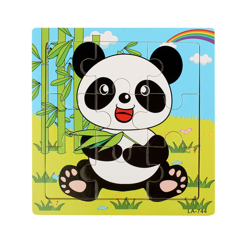 Best seller Wooden Panda Puzzle Educational Developmental Baby Kids Training Toy Fashion Childrens Babys Gifts Free Shipping
