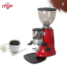 ITOP 6-9Kg/h Electric Coffee Grinder Commercial Coffee Bean Milling Machine Adjustable Dial Burr Coffee Grinder Machine цена и фото