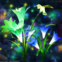 LED Solar Garden Light Outdoor Waterproof For Garden Decoration Butterfly Bird Dragonfly Modern path Lawn Solar Lamp Decor