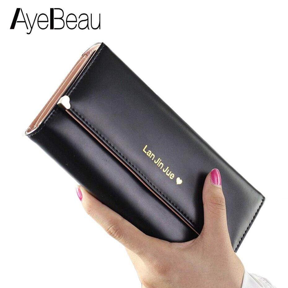 все цены на Phone Long Money Bag Clutch Lady Cuzdan Wallet Female Women Purse For Portomonee Walet Vallet Portmonee Carteras Kashelek Klachi