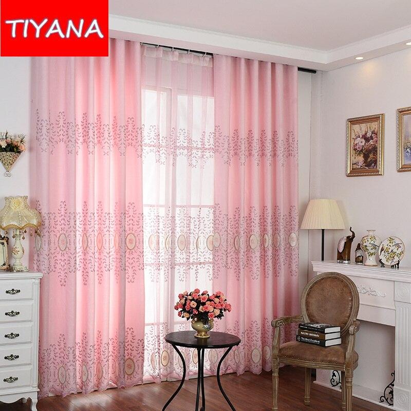 nuevo estilo de lujo persianas cortinas para la sala de estar bordado de tul cortinas para el dormitorio habitacin de matrimoni