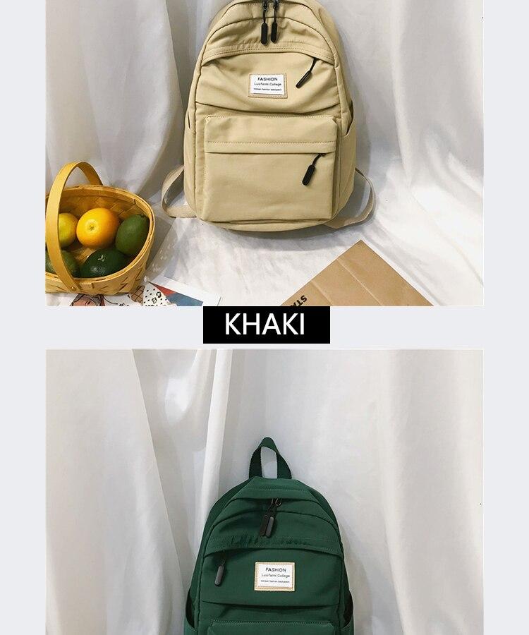 HTB10TOba.uF3KVjSZK9q6zVtXXaO 2019 New Backpack Women Backpack Fashion Women Shoulder nylon bag school bagpack for teenage girls mochila mujer
