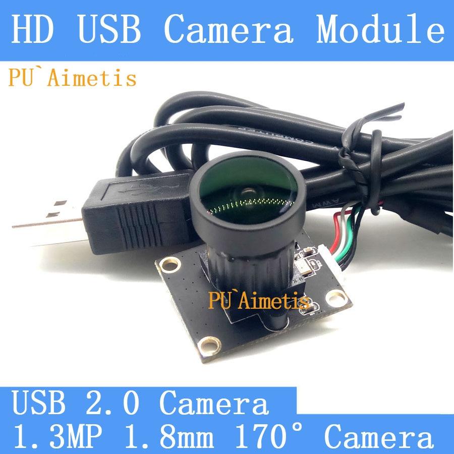 PU`Aimetis HD Mini Surveillance cameras 720P HD 170-degree wide viewing angle USB2.0 CCTV camera module