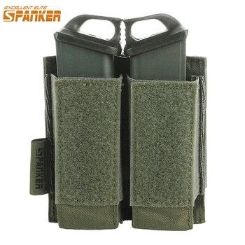 Excelente ELITE SPANKER pistola táctica Molle revista fundas estilo militar Glock doble Clip bolsa Paintball juego pequeña bolsa