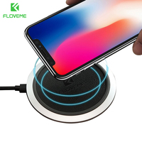 FLOVEME Original QI Wireless Charger Pad For IPhone 8 X 10 Universal 9V Charging For Samsung
