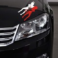 1PC 14*8cm High Quality Car Stickers Sexy Girl Angels and Demons Car Styling Fashion Cars Motorcycles  Decal Styling Accessories