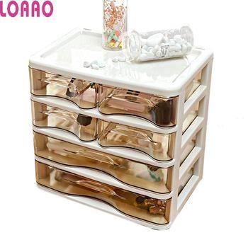 높은 품질 레이디 스토리지 박스 메이크업 박스 홈 보석 상자 케이스 화장품 스토리지 주최자 여성