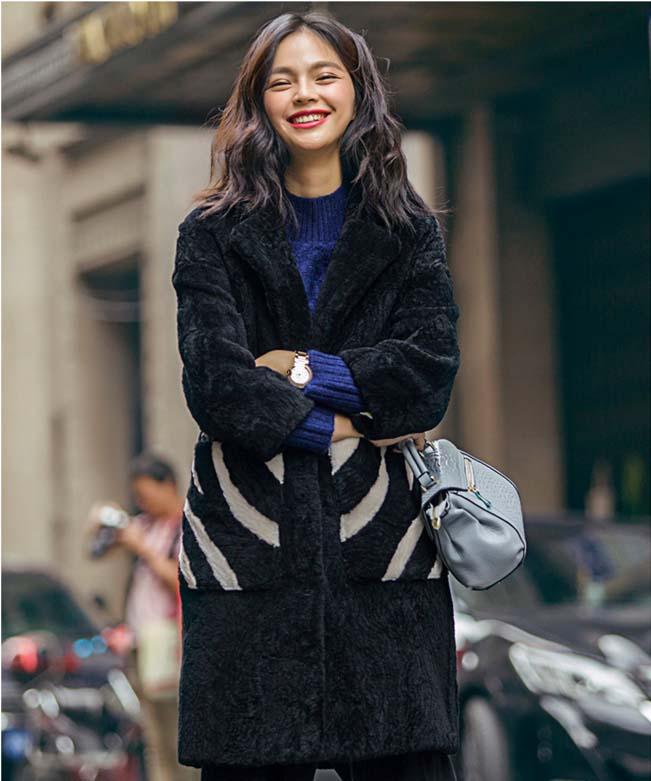 Peau Noir Mode Femelle Plus Hiver Naturel De 2xl En Fourrure Long Genunie Polaire Vestes Cisaillement Manteau Mouton 2017 La Chaud Nouvelle Laine Xxl Taille Uw5qw6Y