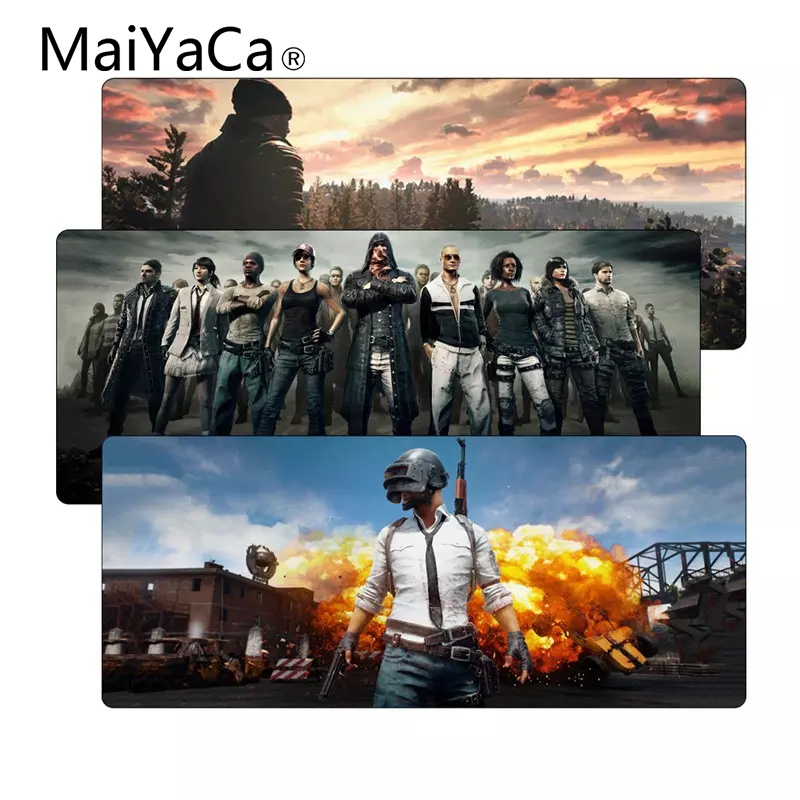 MaiYaCa Playerunknown's Battlegrounds Speed Large Pubg Gaming Mouse Pad Mat Rubber LockEdge MousePad Gamer Mat for Desk Computer maiyaca two tigers speed keyboard mouse pad rubber mat computer gaming mousepad gamer for large size table mouse mat