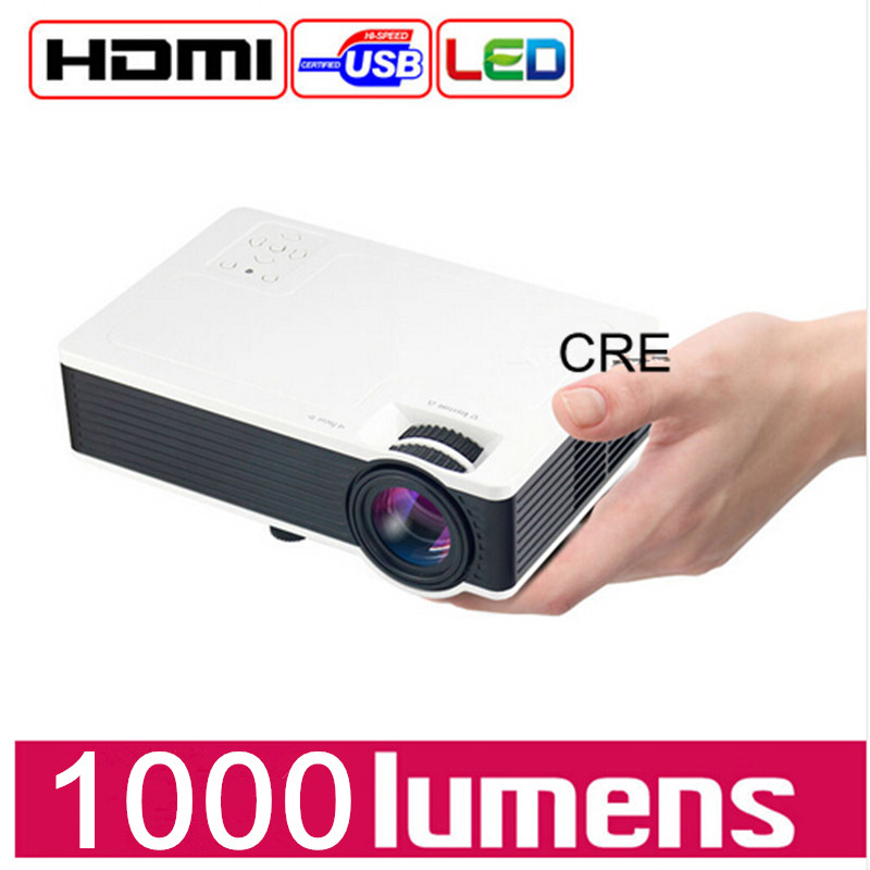 2016 brand CRE X1600 mini projector Home Theater Video LCD Tv cinema piCO HDMI Portable fULi hD 1080P LED Proyector beamer uc18 portable mini led projector support 1080p video portable projector with hdmi tf card usb cvbs led home cinema projector