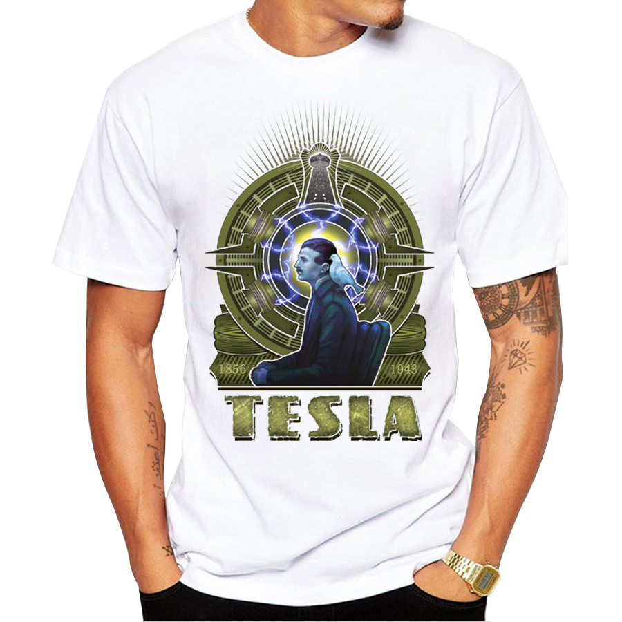 2017 custom men t shirt short sleeve casual t shirts nikola tesla printed tee shrits hipster. Black Bedroom Furniture Sets. Home Design Ideas