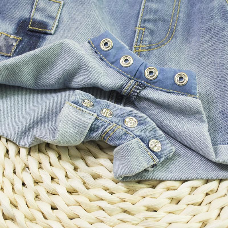 056ec5ad072f HSID1701007--10Infant Denim Jumpsuit Toddler Boy Girl Suspender Jeans  Shorts Kid Rompers Bodysuit Pocket Straps