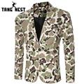 Tangnest blazer masculino 2017 outono camouflage ocasional dos homens blazer hot sale da moda novos homens blazer duas cores tamanho m-xxl mwx361