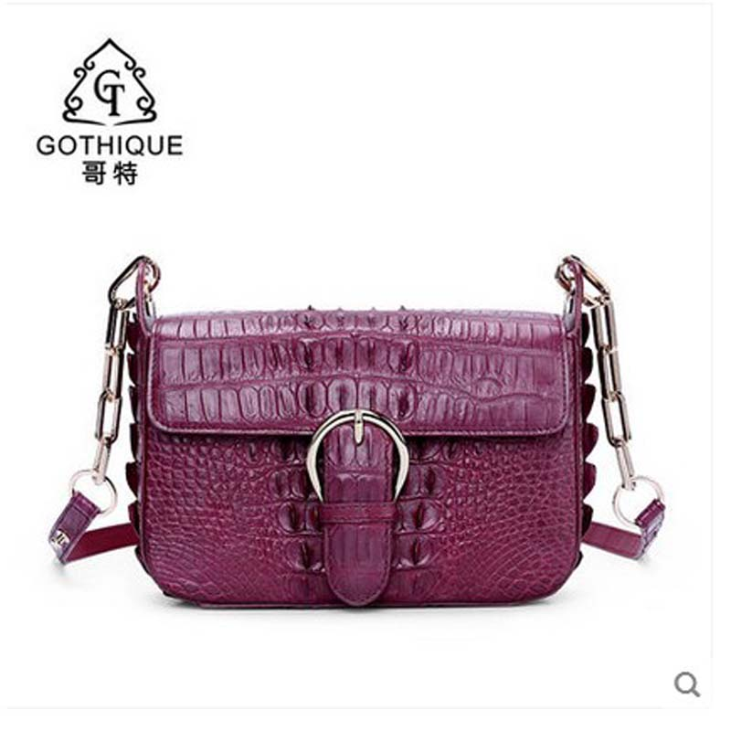 2018 gete freeshipping new hot crocodile leather women handbag thai crocodile women bag genuine leather real leather bag