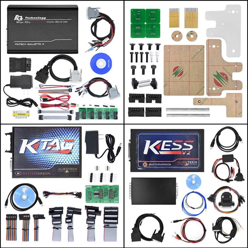 KESS V2 V2.23 5.017 OBD2 + K-TAG FW7.020 KTAG + FGTECH Galletto 4 Мастер V54 + BDM Рамки адаптер ЭБУ программист + ECM Титан как подарок ...