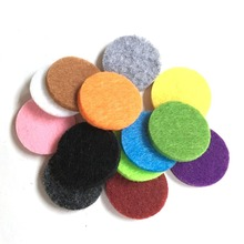 Colorful 23MM Felt Pads for 30mm Essential Oil Diffusing Perfume Locket Pendant
