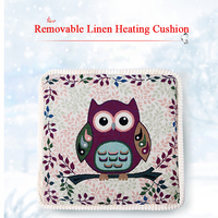 220V Electric Heater Removable Linen Heating Cushion Office Electric Heating Pad Small Electric Blanket Cushion 47X47CM