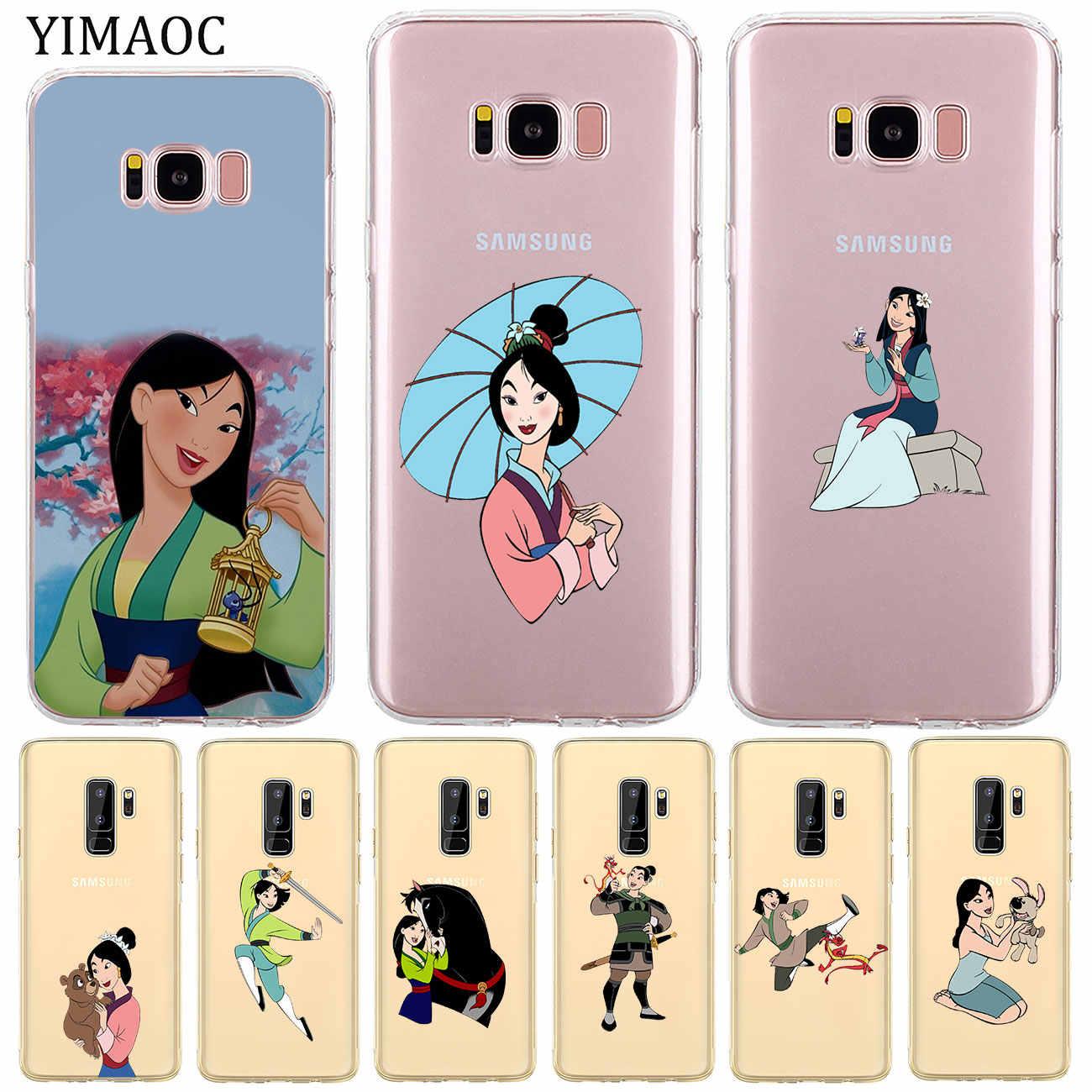 Cartoon Mulan Silicone Phone Cover Case