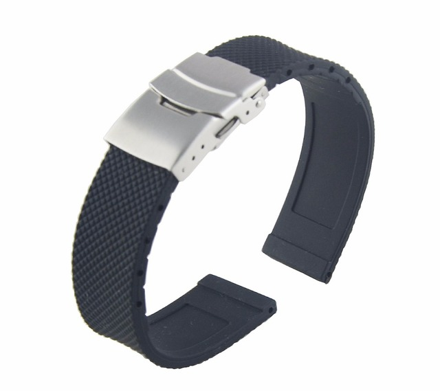 Silicone Watchbands For Rolex/TAG HEUER/IWC Men Watches Strap Fits All Brands 20 22 24mm Women Watch Straps Top Quality Belt