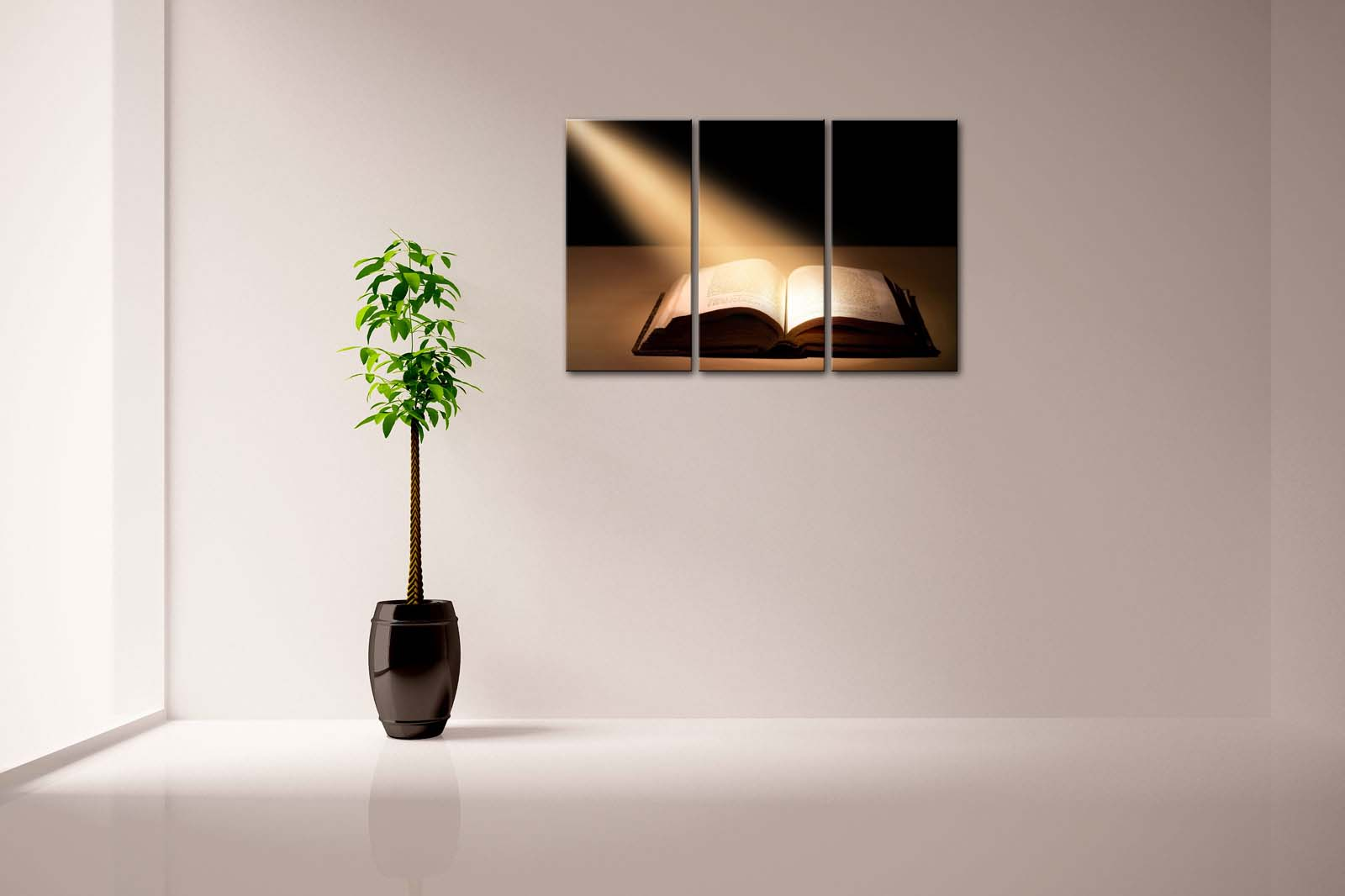 Holy Bible Framed Canvas Painting - Canvas Paintings Under $100