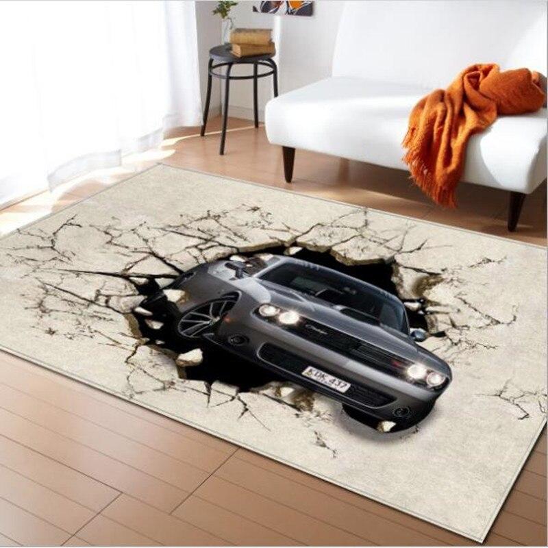 LIU tapis grand salon 3D personnalité Simple moderne nordique tapis chambre tapis Table à thé rectangulaire tapis de sol mode doux - 4
