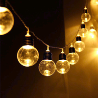 Thridar 5CM Big Ball Globe Festoon Led String Light 4M 6M 8M Outdoor Garden Patio Fairy