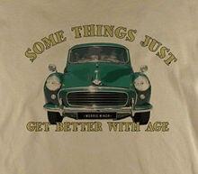 Somethings...Morris Minor 1000 Classic Car Traveller Printed Natural T-Shirt  Harajuku Tops Fashion Unique free shipping