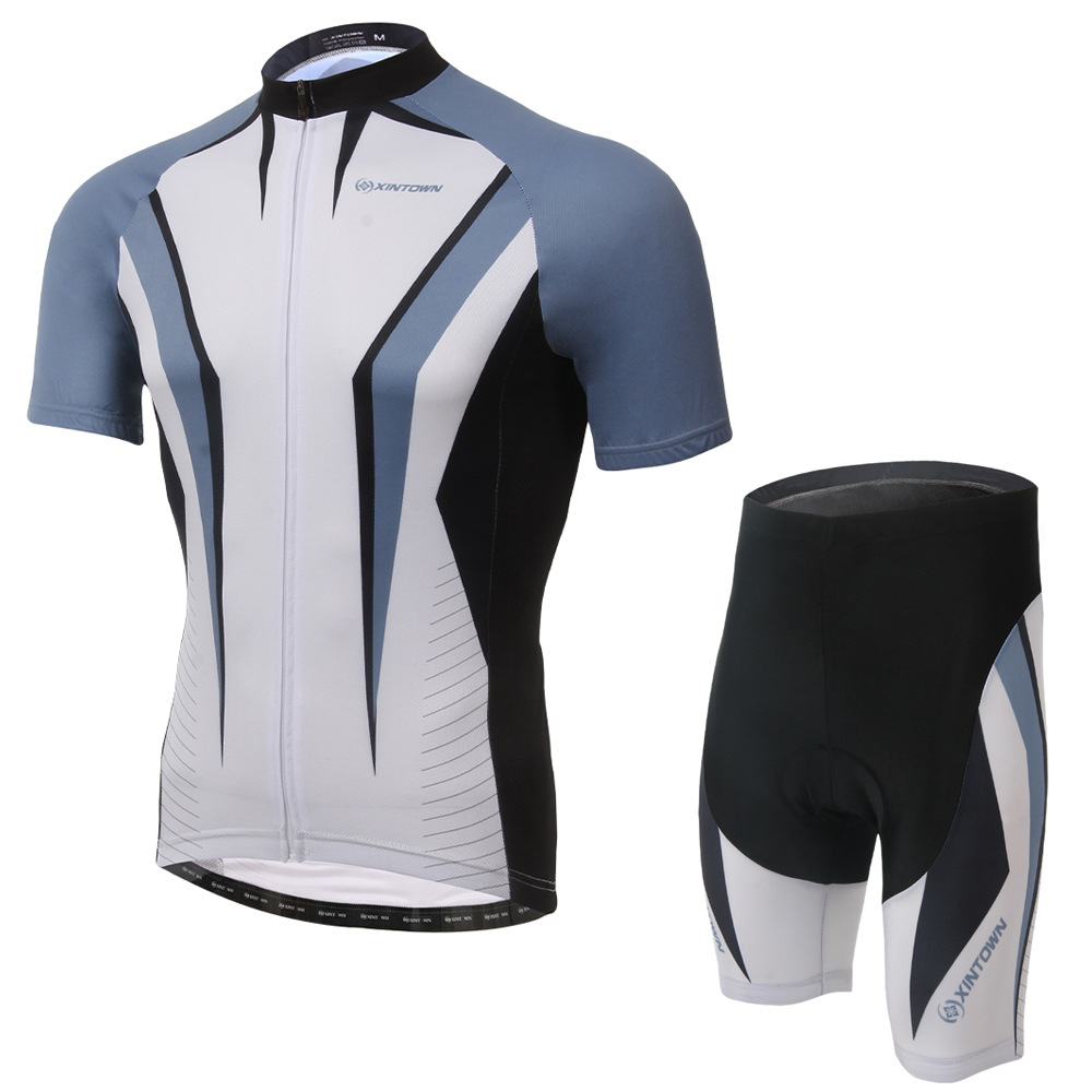 Cycling Set 3 Colors Men Summer Cool Short Sleeve Jersey and Shorts Bike Set Breathable Quick Dry Bicycle Riding Clothes