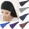 Las mujeres de Señora Rhinestone Headwear Turbante Torcedura Diadema Head Wrap Soft Hair Band
