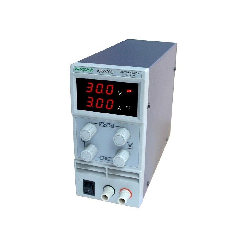 Горячие KPS303D регулируемый высокой точности двойной светодиодный дисплей переключатель DC Питание защиты function30V3A 110 В-230 В 0.1 В /0.01A ЕС