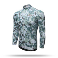 The XINTOWN Jersey Long Coat 2017 New Spring Long Sleeved Shirt Male Bicycle Camouflage