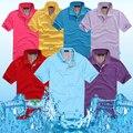2016 Verão Dos Homens Novos da Marca Polo Camisa dos homens de Negócios Casuais sólida masculino camisa pólo de Manga Curta camisa pólo respirável Tamanho S-3XL