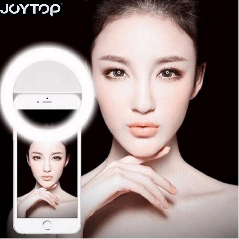 JOYTOP New Selfie Ring Light Portable Flash Led Camera Phone Photography Enhancing Photography for Smartphone Selfie Ring Light