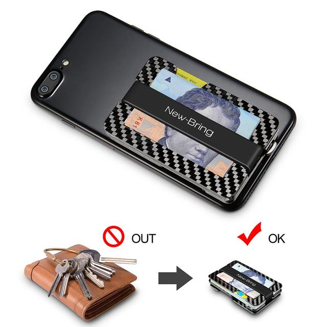 NewBring Multi-functional Metal Money Clip Men with Credit Card Wallet and key holder 3