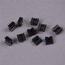 100 шт. круглое отверстие 8 контактов 2,54 мм DIP DIP8 ИС адаптер припоя Тип 8 PIN IC Разъем высокое качество