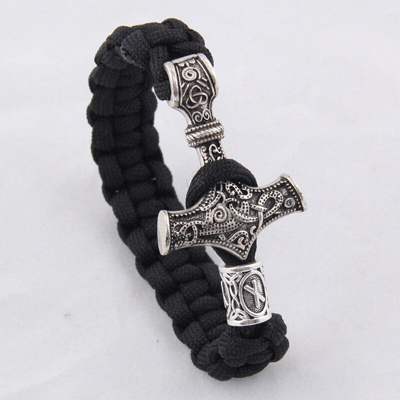dropshipping 1pcs thor s hammer mjolnir bracelet viking scandinavian norse viking bracelet Men gift