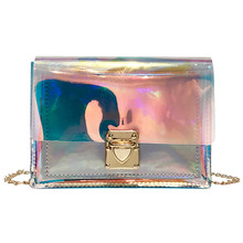 Crossbody Bags Women 2019 Laser Transparent Bags Fashion Women Korean Style Shoulder Bag Messenger Waterproof Beach Bag #YL5 fashion neutral laser beach bag classic style messenger crossbody bag chest bag p dropship