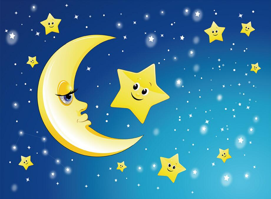73 Gambar Bintang Bulan Kartun