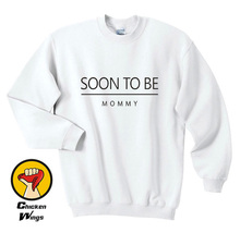 Soon to be mommy future mom gift women expectant mother pregnancy announcement new for wife Crewneck Sweatshirt