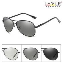 2019 New Arrival Polarized Photochromic Pilot Sunglasses Men Women Goggle Chameleon Change Color Glasses