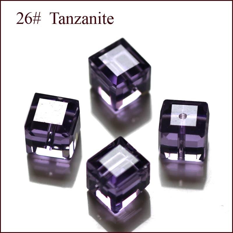 100 Teile / los Kristall Perlen 5601 Quadratwürfelform 8x8 MM 18 - Modeschmuck - Foto 3