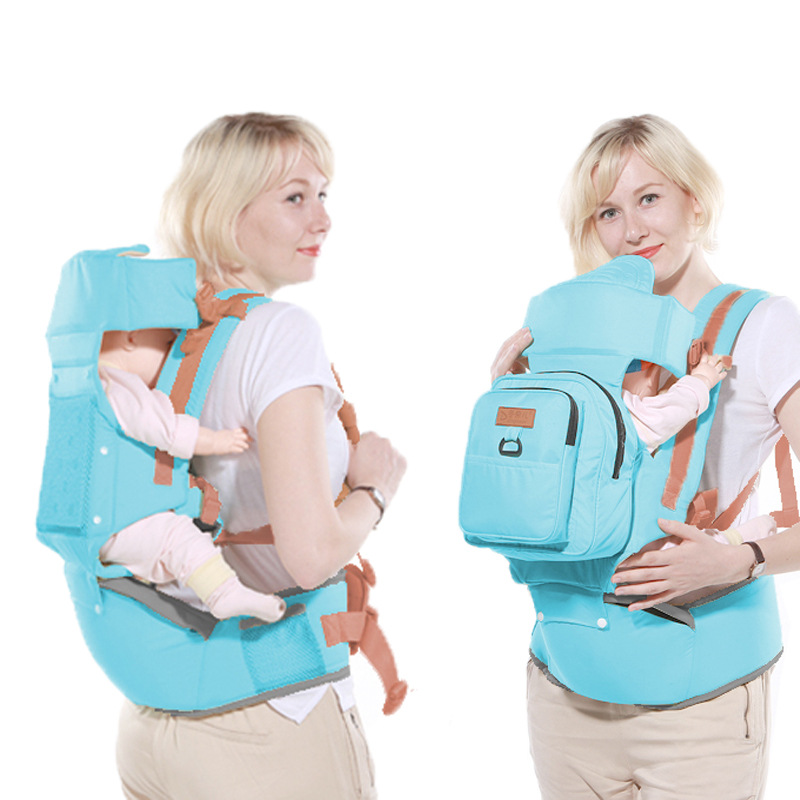 2in1 multi-function baby carrier kangaroo baby sitting waist stool newborn child holding baby waist stool + anti-lost package ubela multi function two line baby stool mother strap mint green